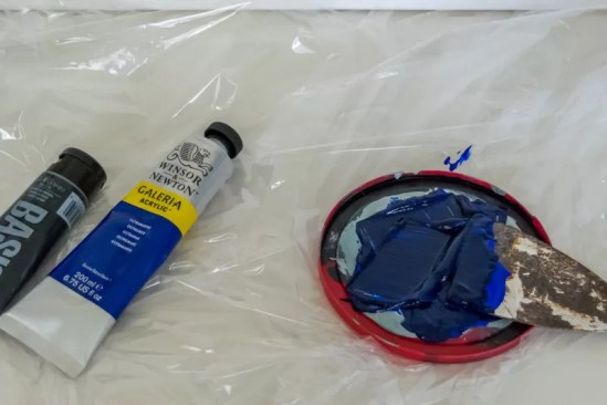 Mixing paint for Abstract Painting