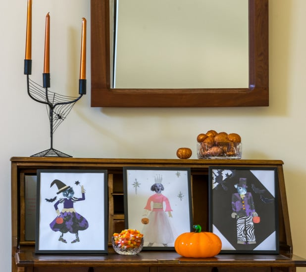 Include your four-legged family members in your Halloween decorations this year. This easy Halloween craft is fun for kids AND adults!