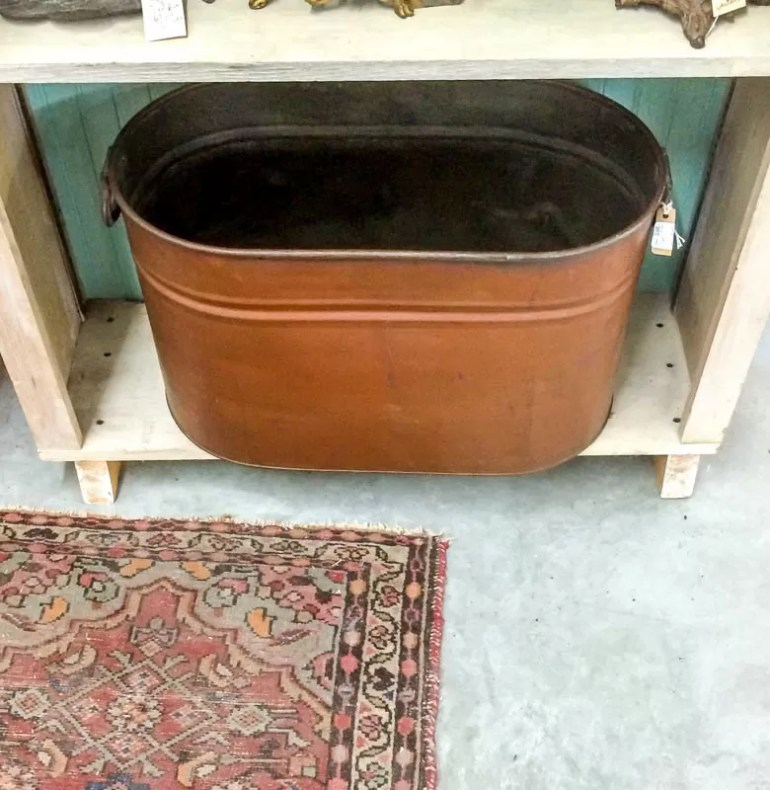 Tub I found in the antique store on Eastern Shore of Maryland