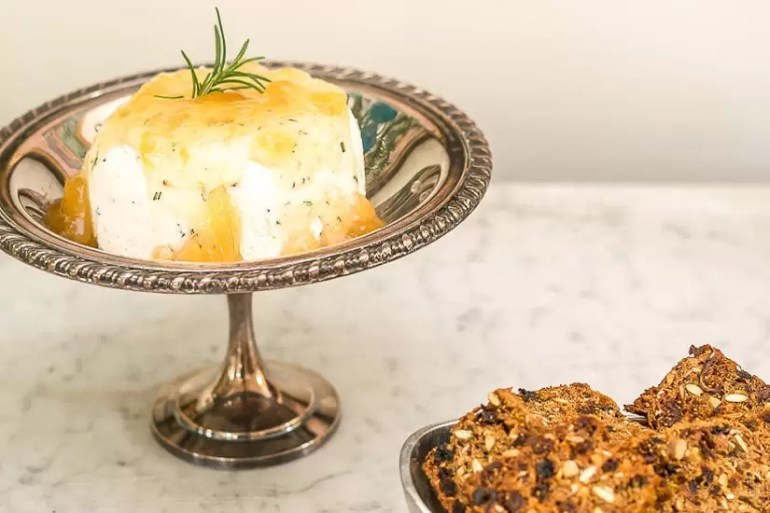 You had me at Goat Cheese! And Rosemary! And Ginger! Rosemary and Goat Cheese with Ginger Preserves appetizer is the perfect recipe for holiday, or anytime, entertaining. And, oh so easy.