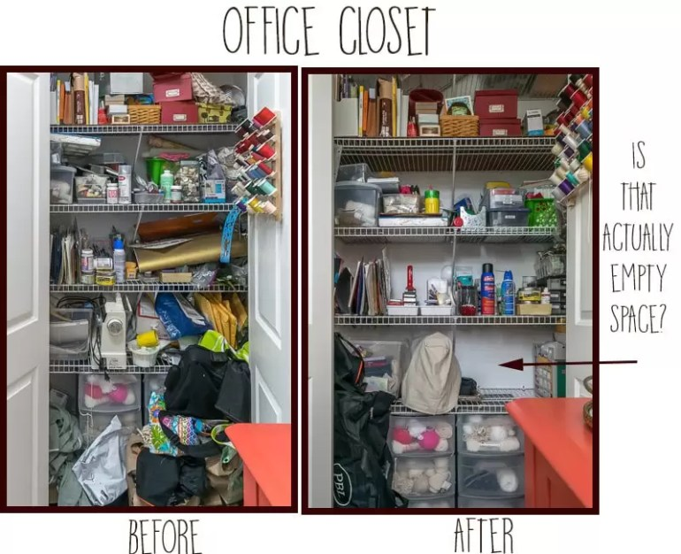 Week 2 of the Unclutter Your Nest 2017 Challenge. How I decluttered, where I sent my clutter, and how created an organized office and craft room.