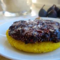 {Miss Figgy's Jammy Balsamic Fig Cornmeal Pizza with Honey Walnut Glaze}