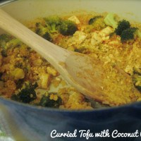 {Curried Tofu with Coconut Quinoa}