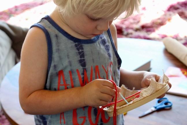 beginning sewing button craft