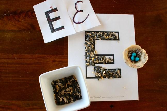 Letter E Preschool Unit