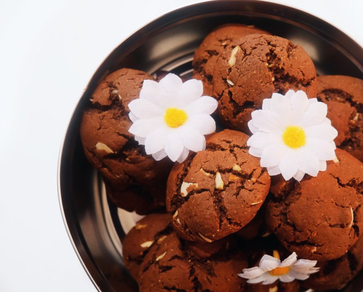 Almond Vegan Choc Cookies