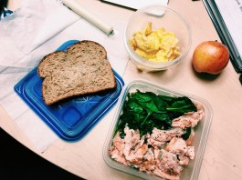 Breakfast, lunch and snacks for a day of work as a Dietetic Intern