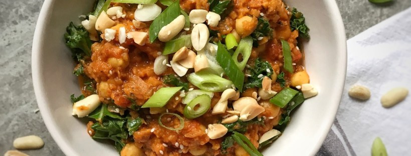 Sweet Potato and Tomato Peanut Butter Dhal