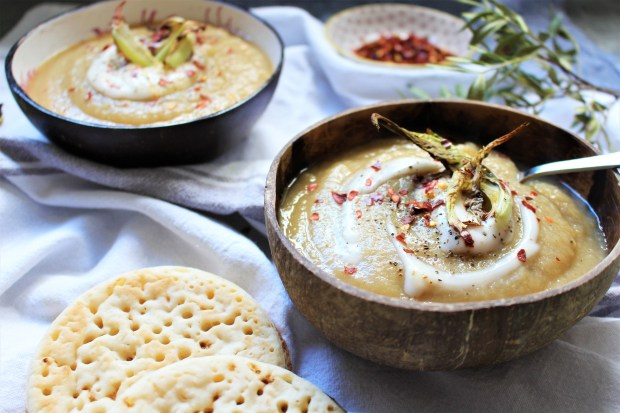 Spiced Parsnip and Cauliflower Soup