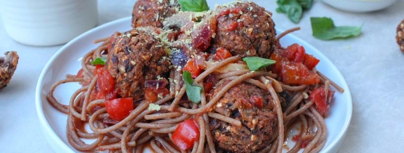 Spaghetti and No-Meat Ballz