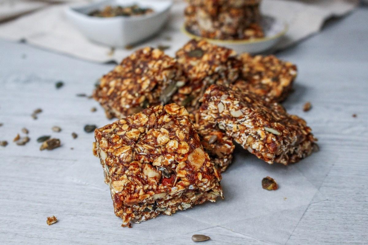 Roasted Nut Granola Bars
