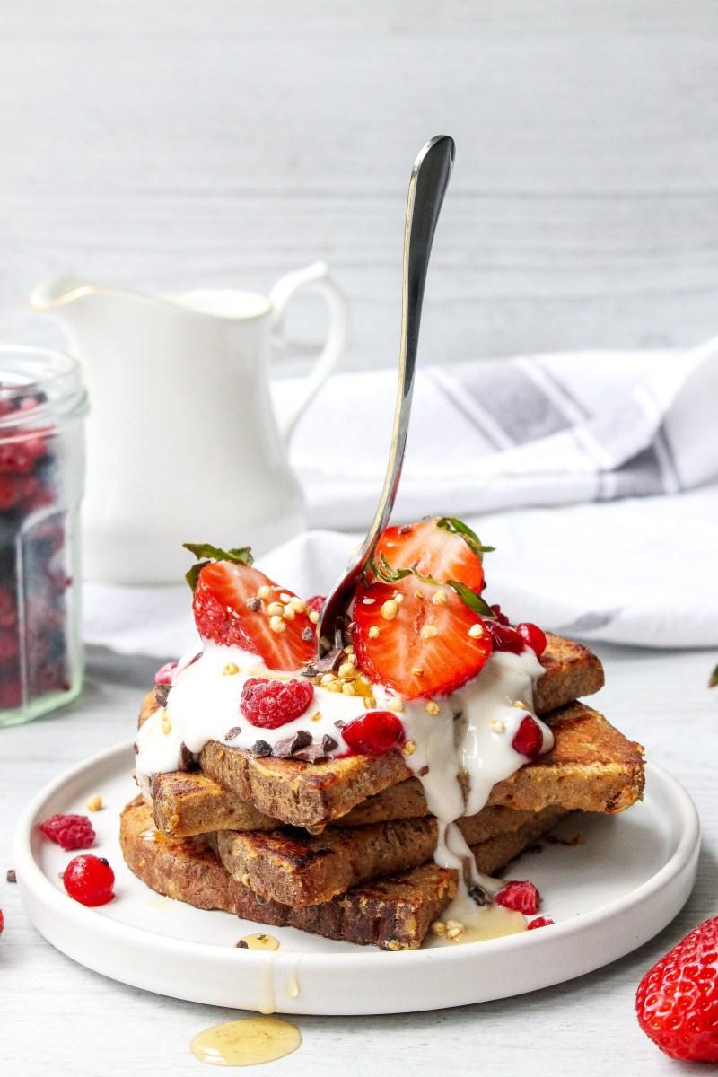 Vanilla and Strawberry French Toast