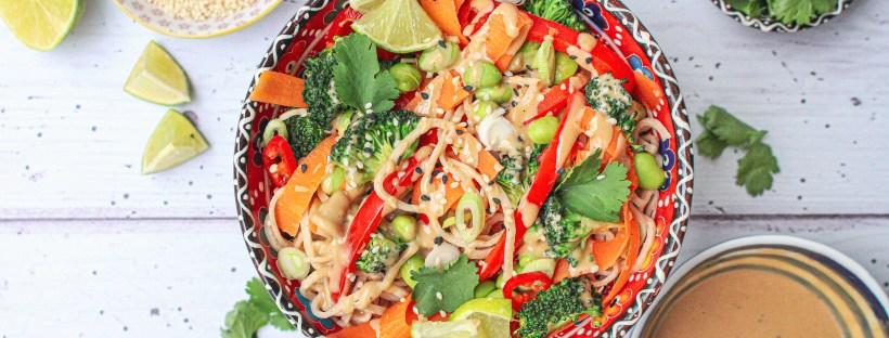 Tahini Noodle Satay Salad