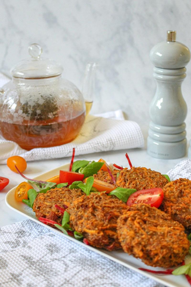 Cauliflower and Sun Dried Tomato Breakfast Fritters