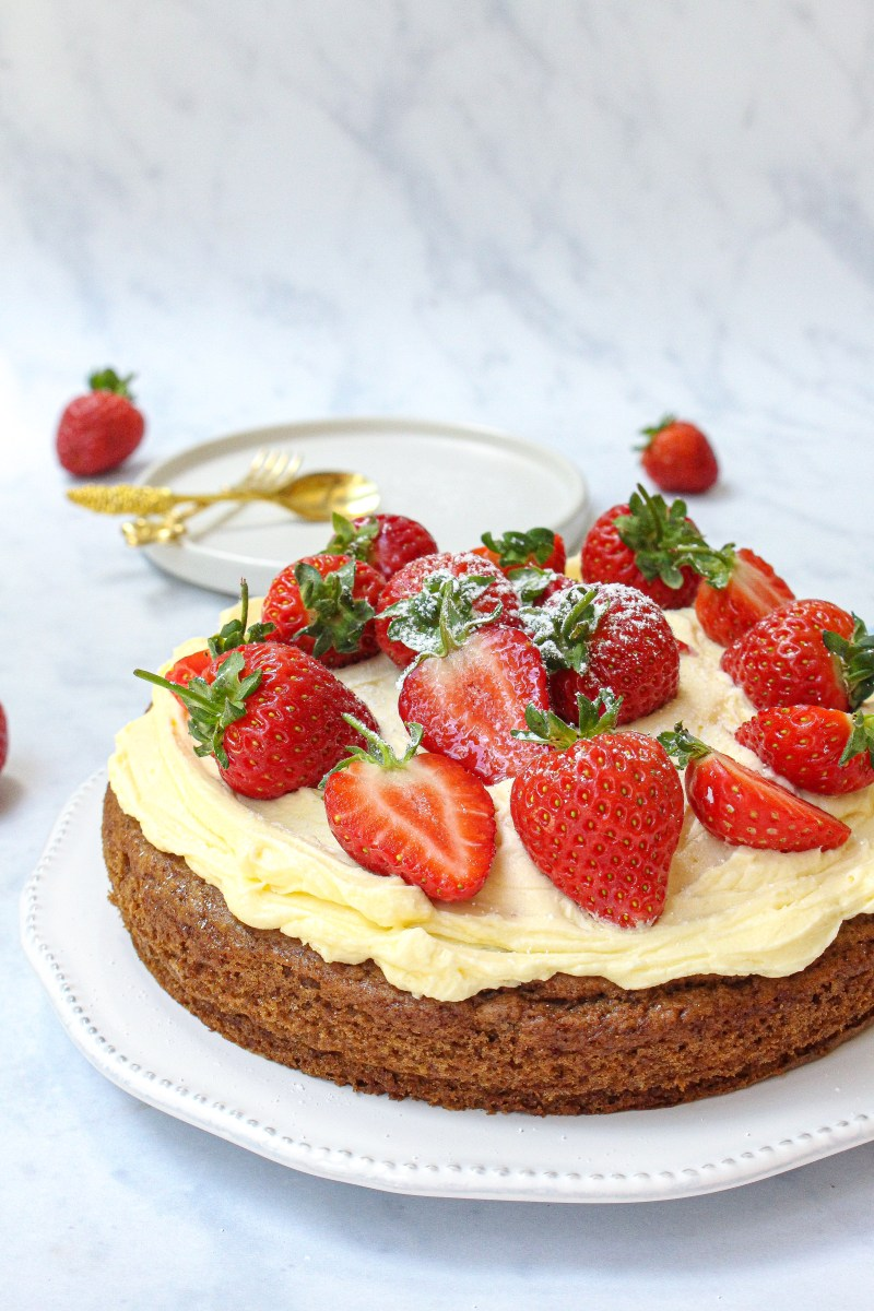 Vegan Vanilla Cake with Buttercream Frosting