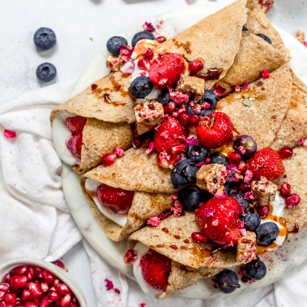 Berry Buckwheat and Chocolate Crepes
