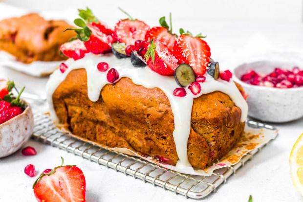 Strawberry Lemon Banana Bread (Vegan GF)