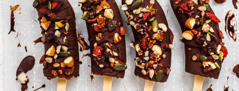 Chocolate Covered Banana Pops