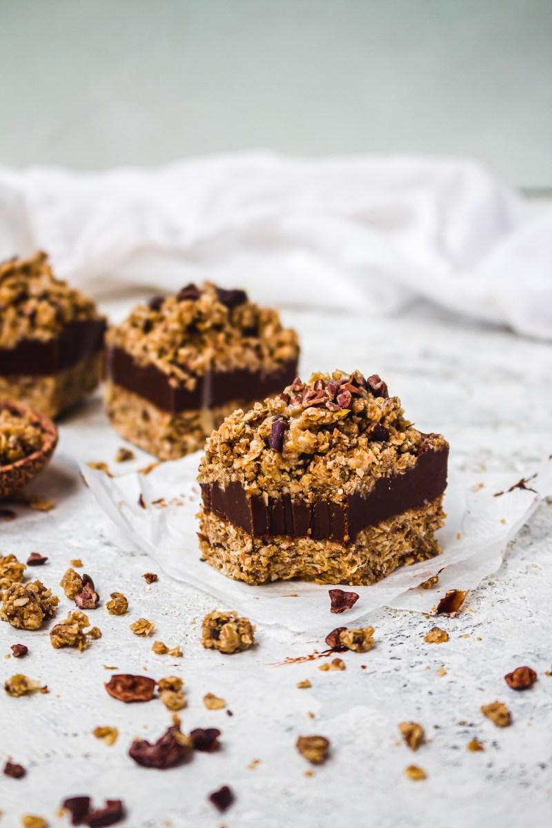 Double Chocolate Tahini Fudge Bars