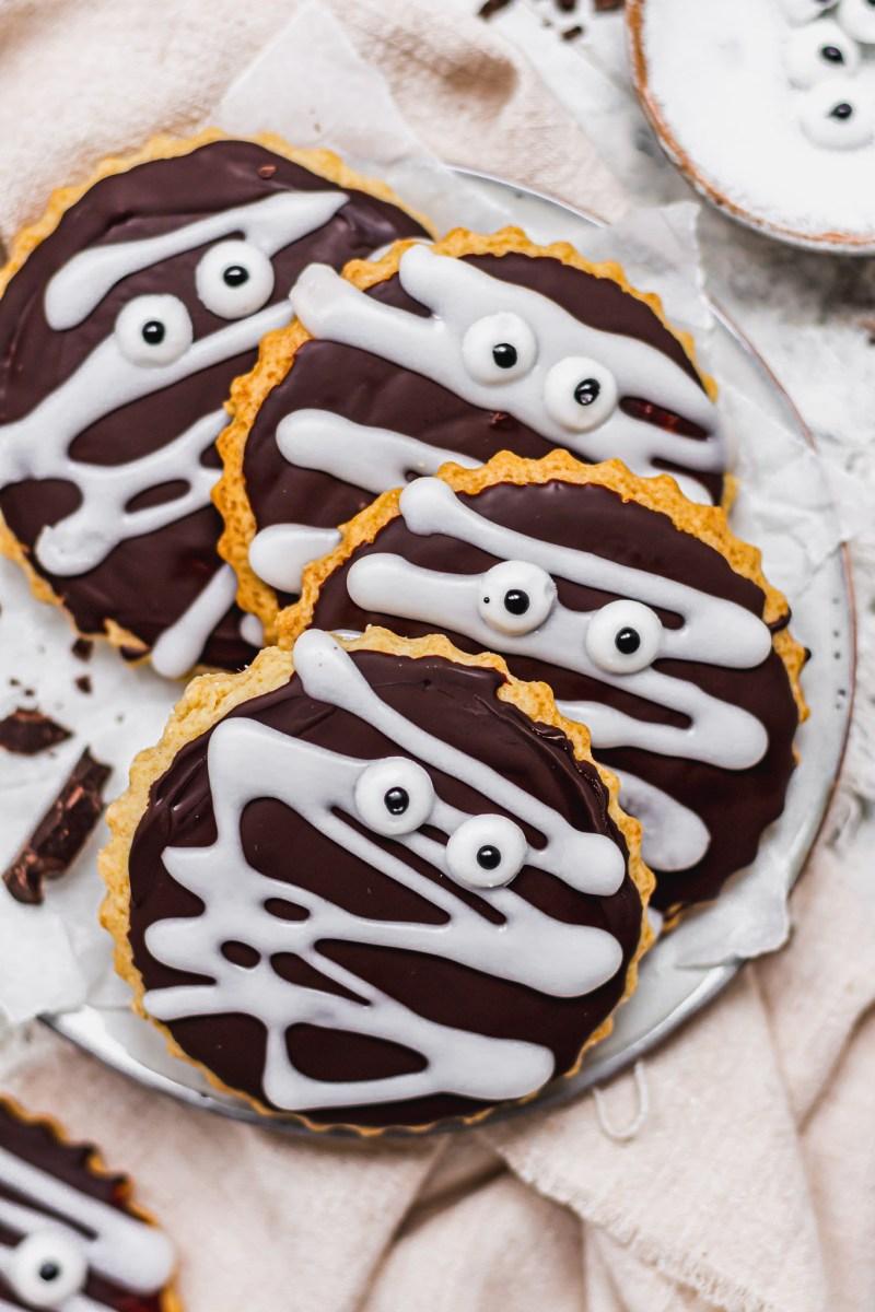 Chocolate Covered Mummy Sugar Cookies