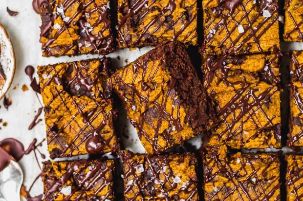 Chocolate Pumpkin Swirl Brownies