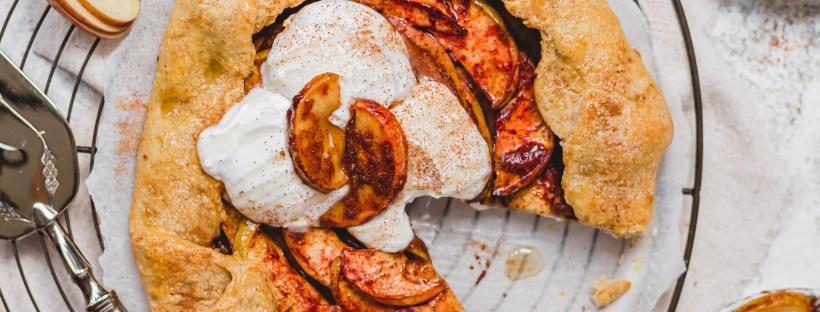 Sticky Cinnamon Apple Galette