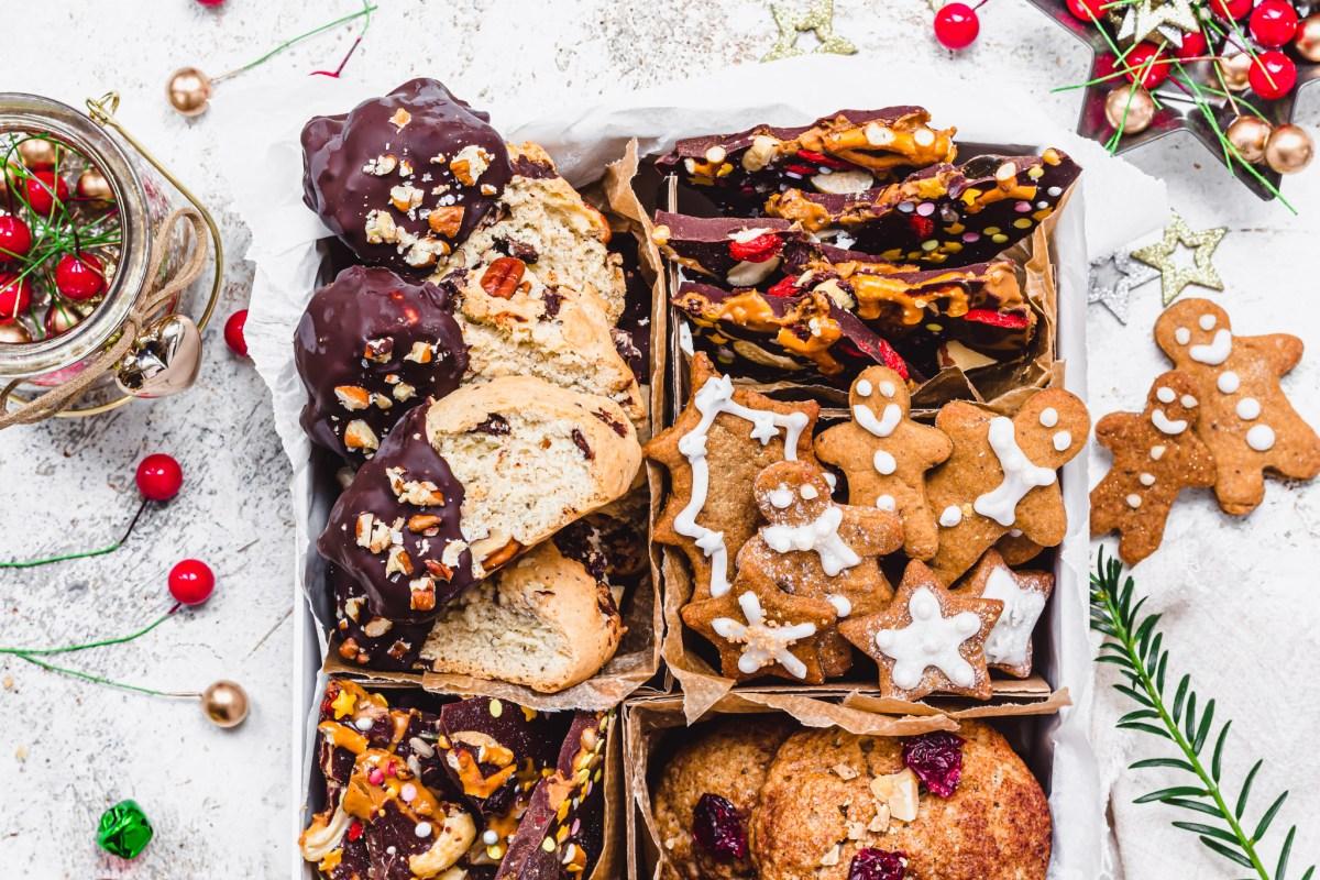 Homemade Vegan Cookie Box