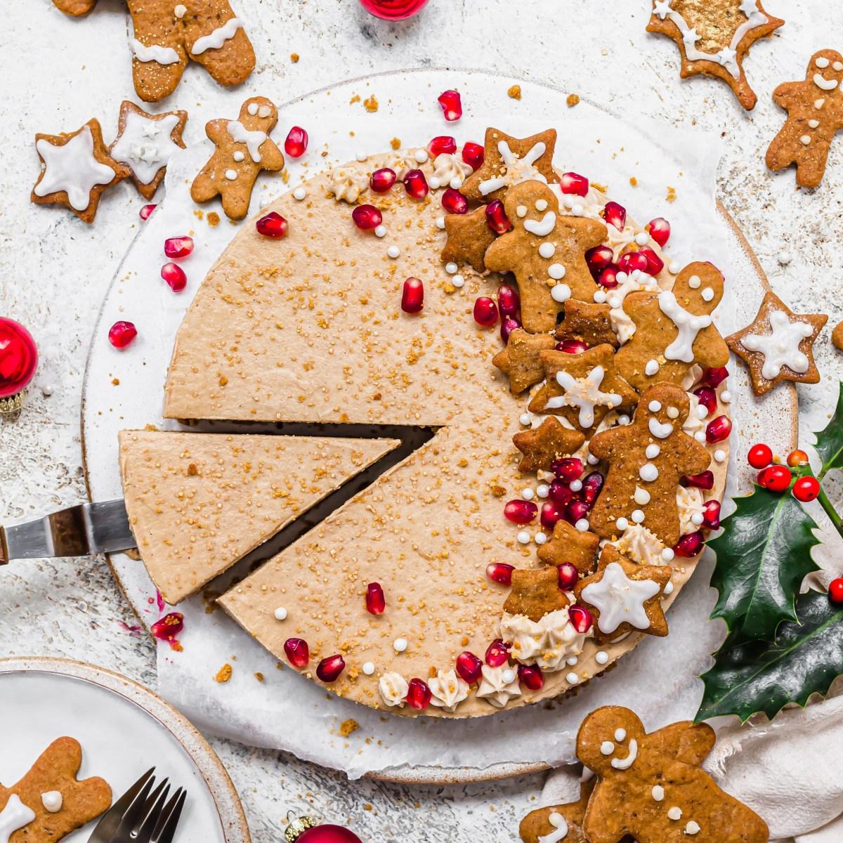 No-Bake Vegan Gingerbread Cheesecake