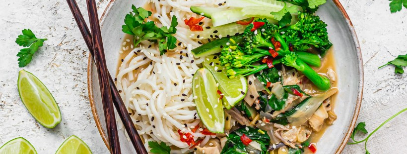 Coconut and Chilli Banana Blossom Noodle Curry