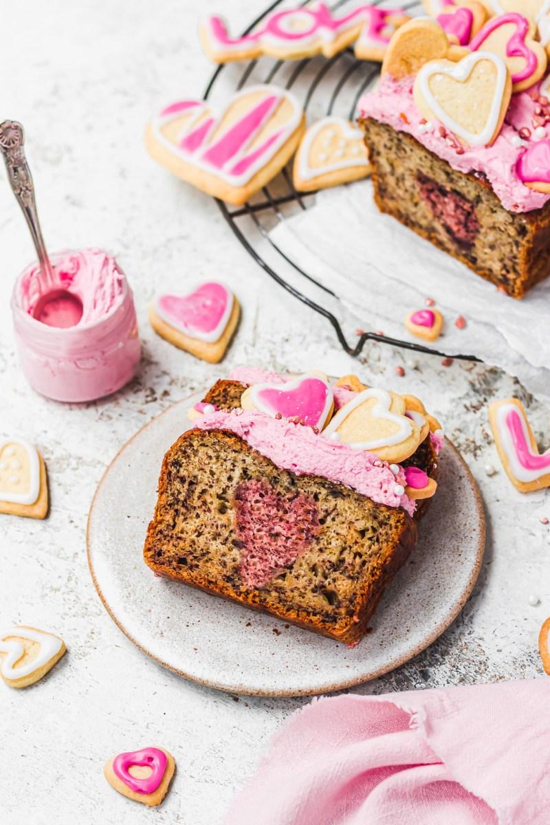 Valentines Day Banana Bread