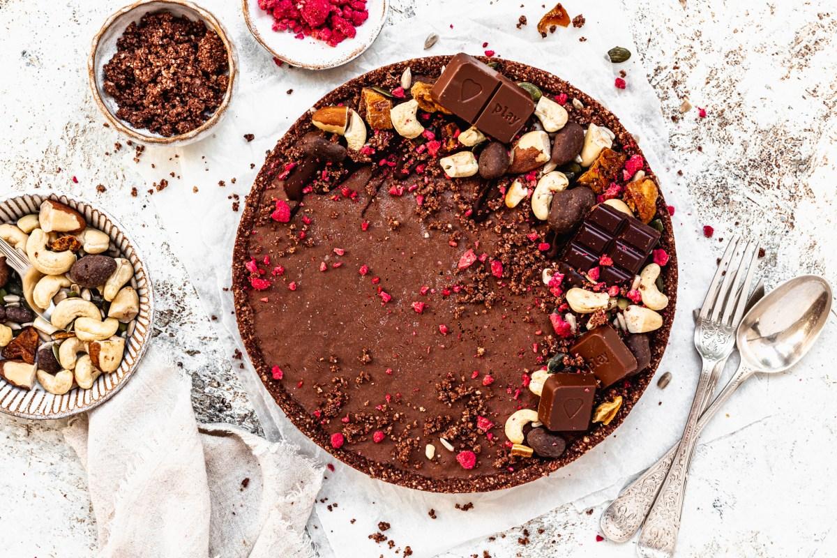Easter Chocolate Cream Tart