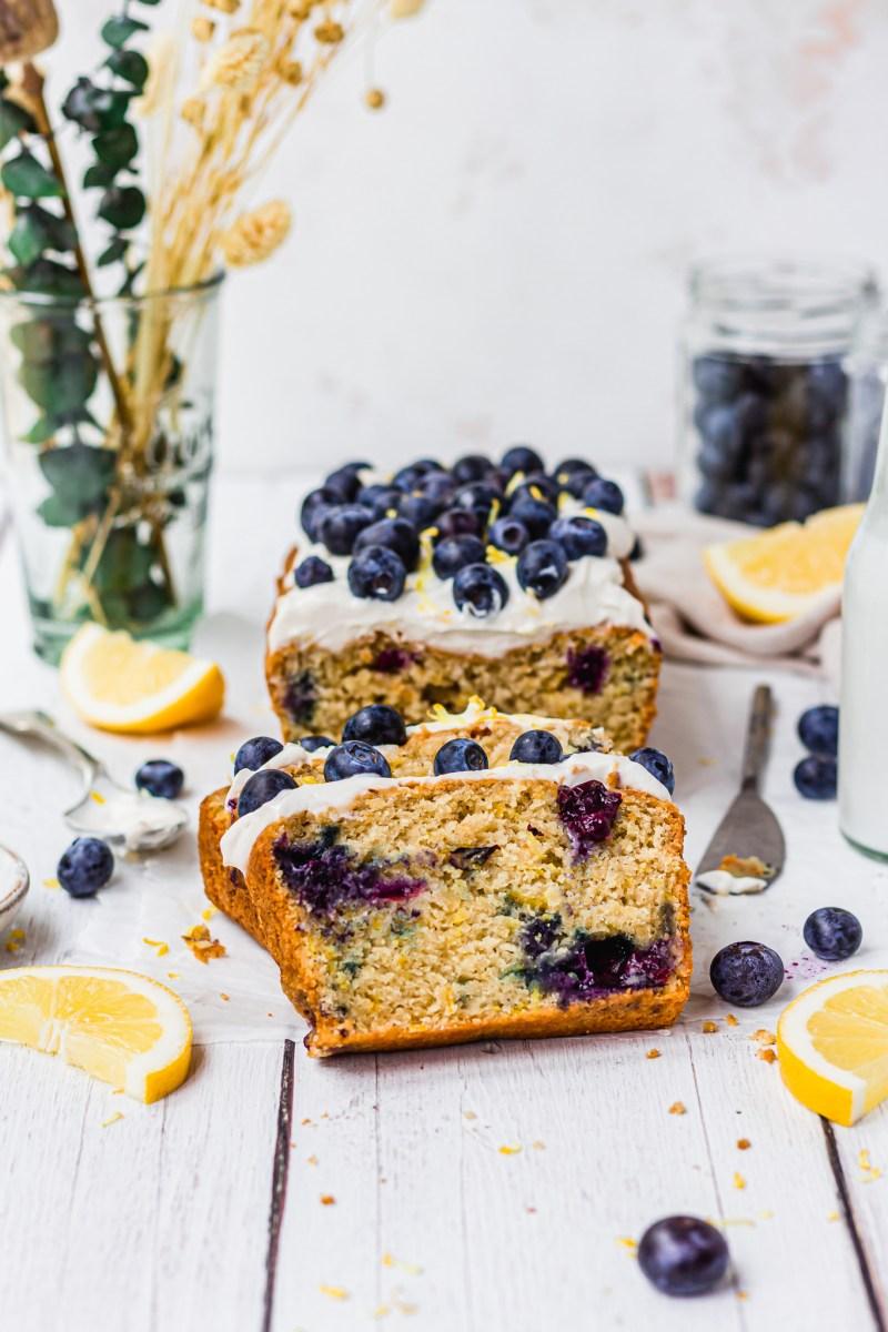 Vegan Lemon and Blueberry Loaf