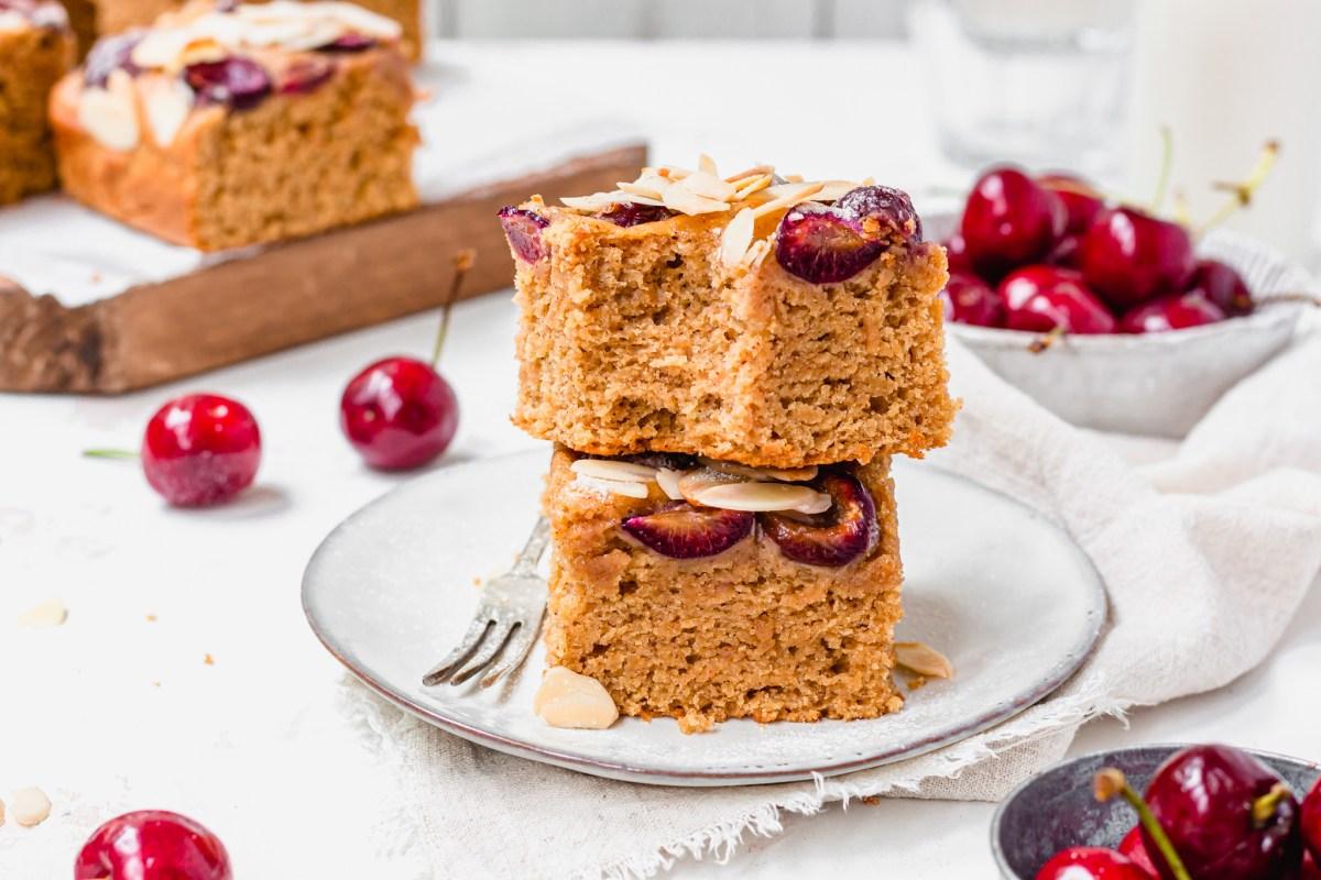 Cherry Almond Cake Bars