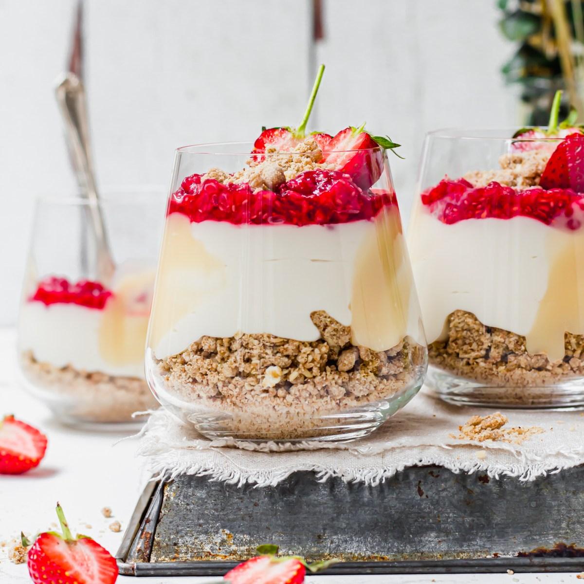 Oat Berry Cheesecake Jars