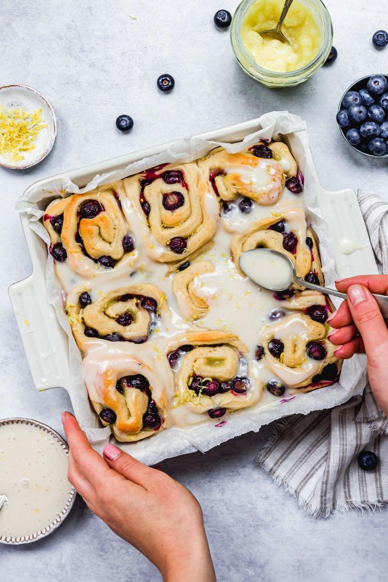 Vegan Lemon Blueberry Sweet Rolls
