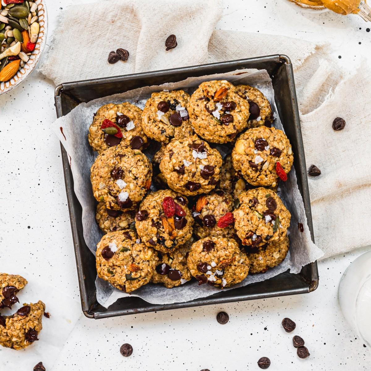 Mini Trail Mix Cookies