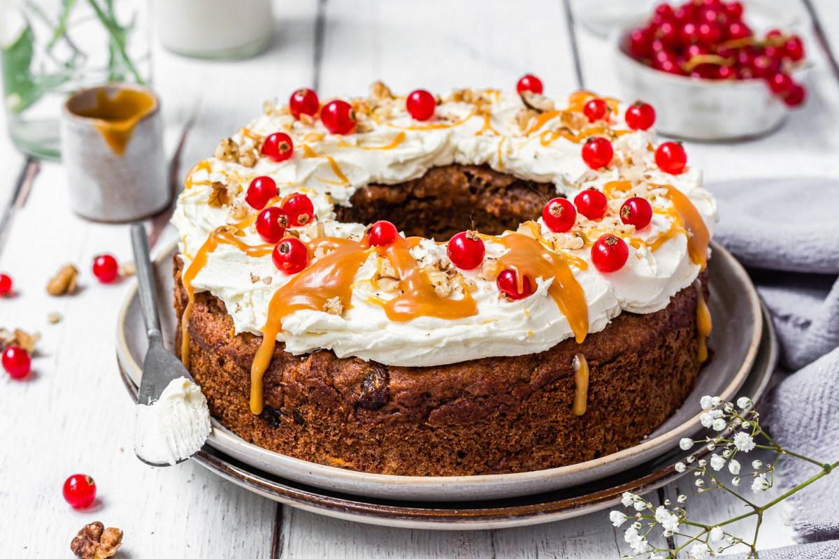 Carrot and Raisin Bundt Cake