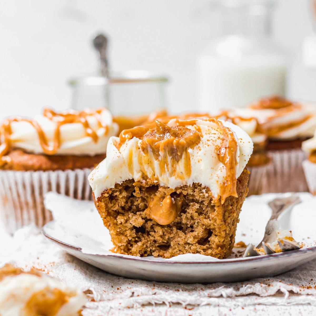 Chai Pumpkin Spice Cupcakes with Vanilla Buttercream Square photo