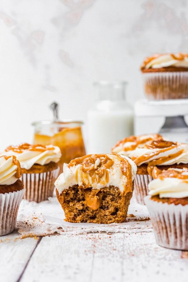 Chai Pumpkin Spice Cupcakes with Vanilla Buttercream