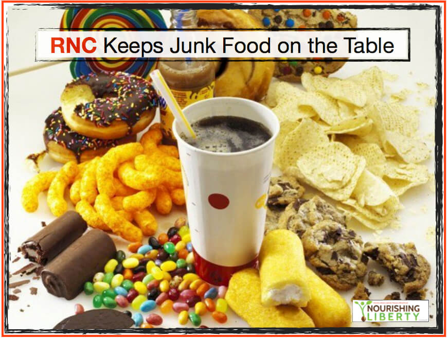 RNC Keeps Junk Food on the Table