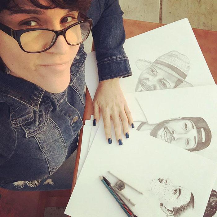 Pencil Portraits of @MajahHype @HbkRSNY @JoyJah