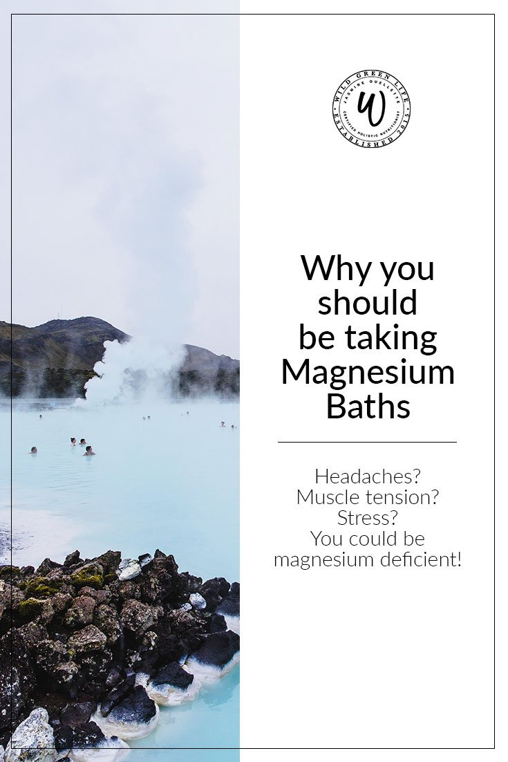The health benefits of taking magnesium baths: do you suffer with headaches, muscle tension, and stress? You could be magneiusm deficient!