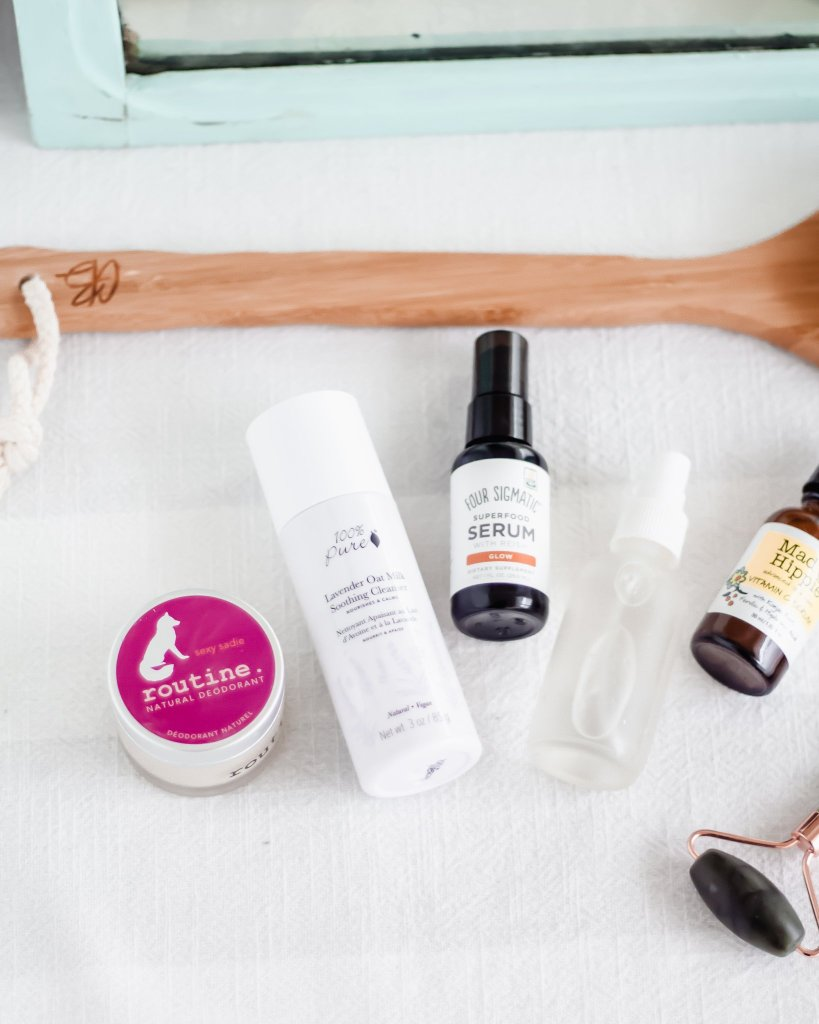 My natural skincare routine using non-toxic, gentle skincare products!