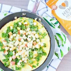 Apple and Sharp Cheddar Omelet | www.nourishnutritionblog.com