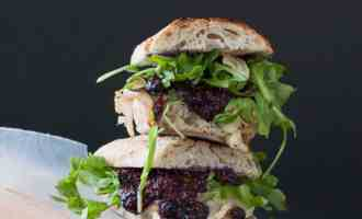 Grilled Turkey and Brie Sandwich with Wild Blueberry Mustard | www.nourishnutritionblog.com
