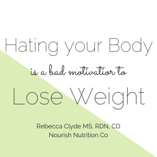 Why Hating Your Body Isn't Motivational | www.nourishnutritionblog.com