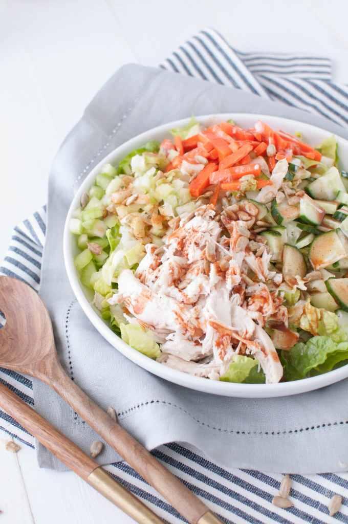 Buffalo Chicken Salad 1 | Nourish Nutrition Co | www.nourishnutritionblog.com