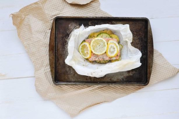 Easy Baked Salmon on Baking Sheet