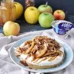Easy No Bake Apple Tart with a Yogurt Filling | holiday dessert | made with the new Light & Fit Vanilla Greek Yogurt with No Artificial Sweeteners | #easy #caramel #nobake #dessert #holiday #recipes