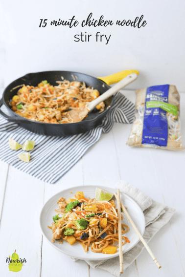 15 Minute Chicken Noodle Stir Fry Recipe
